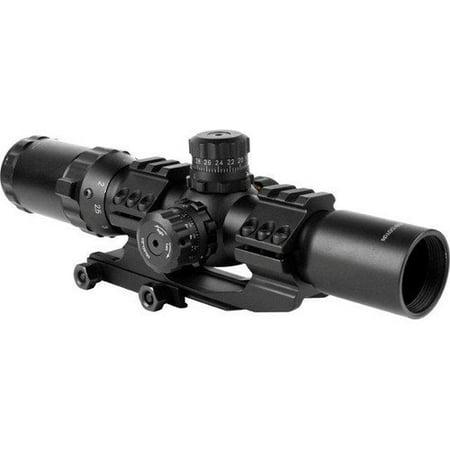 AIM Sports Inc 1.5-4x30 Dual Illuminated CQB Scope w/ Locking Turrets/Mil-Dot (Aim Sports 3 9x40 Dual Illuminated Scope)
