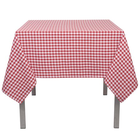 Now Designs Red Gingham Tablecloth, 60 x 90inch (Gingham Table)