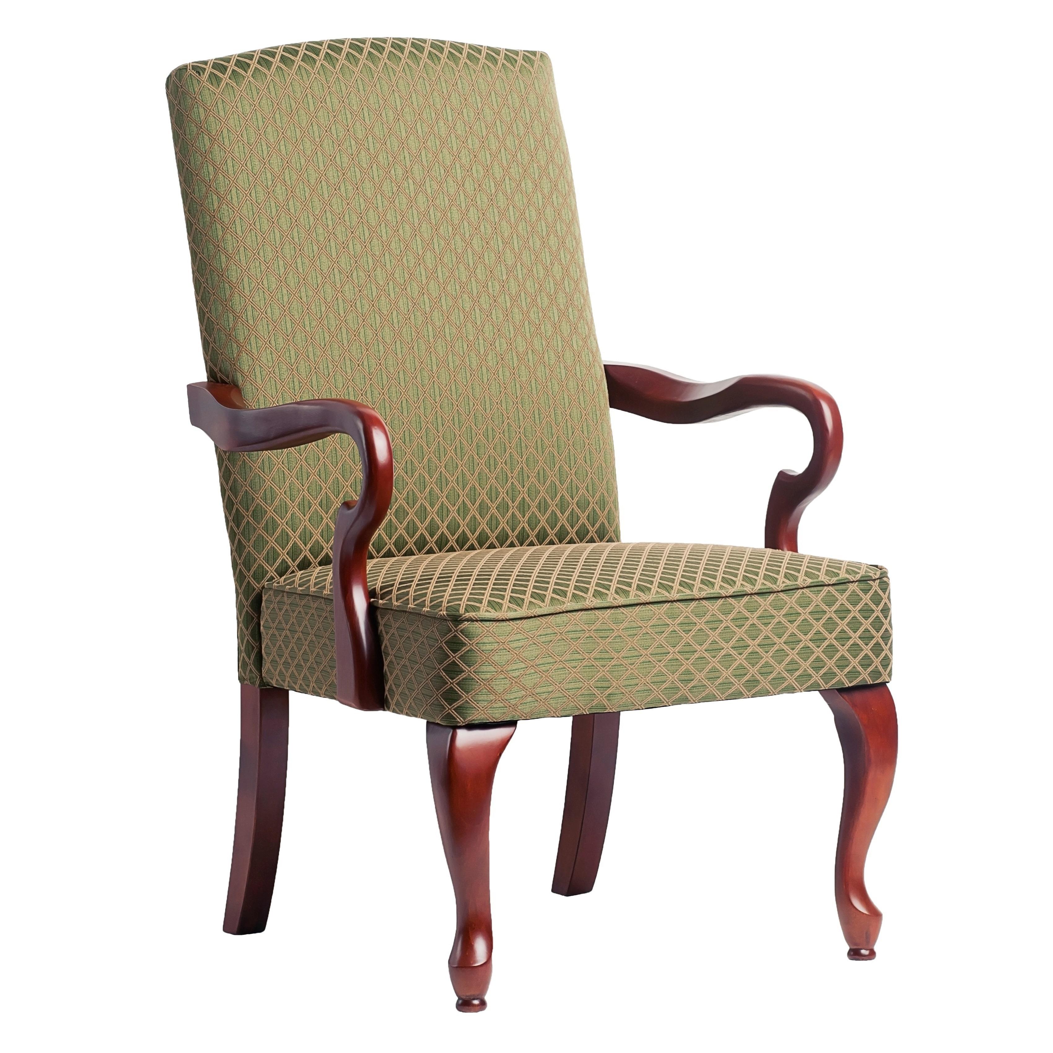 Greyson Living  Dayton Cherry Finish Gooseneck Accent Chair