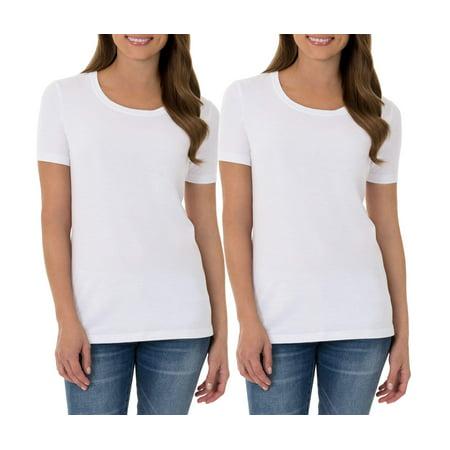 Women S Sustainable Crew Neck Short Sleeve T Shirt 2 Pack Value