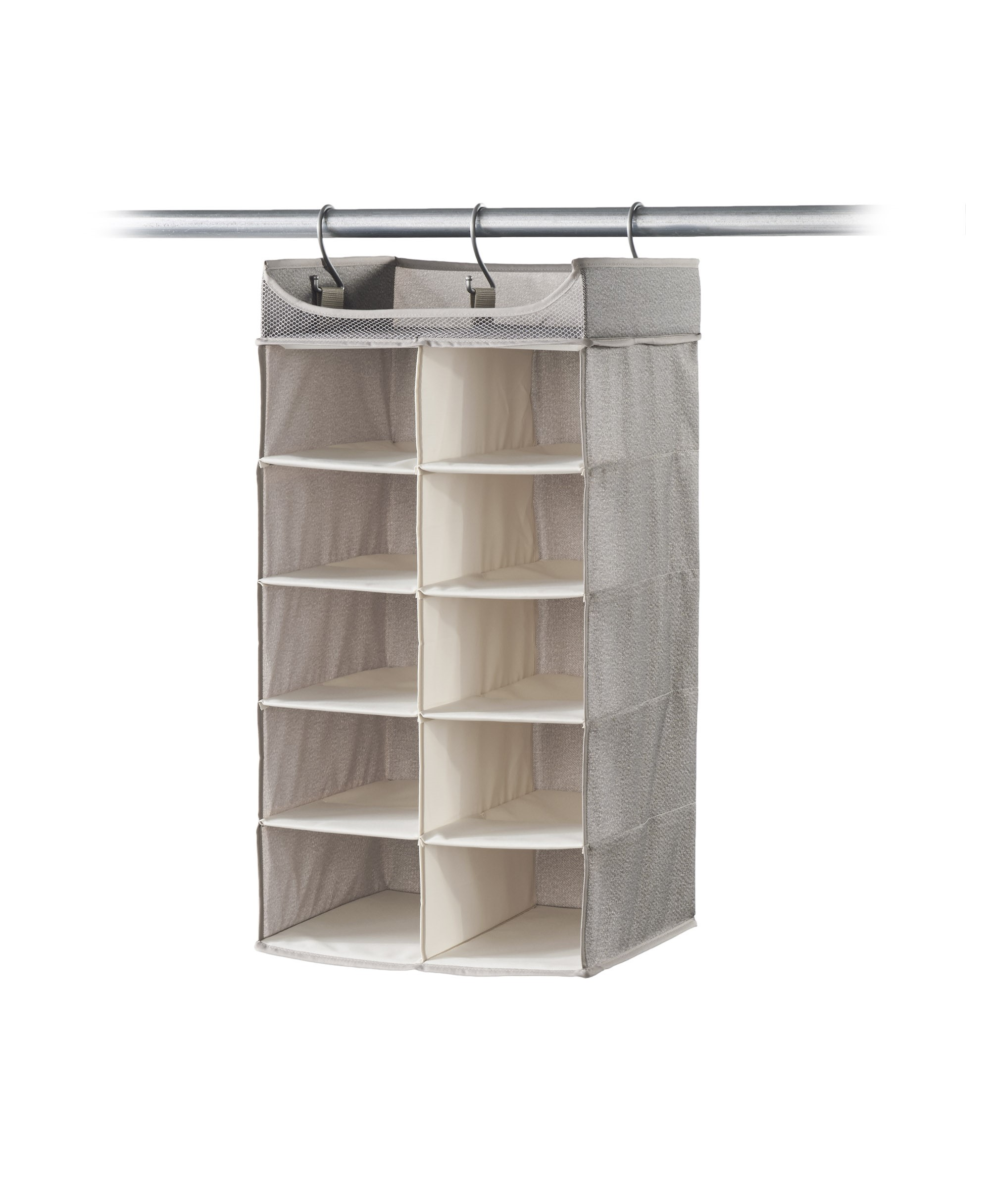 Captivating Neatfreak Hanging Shelf Closet Organizer, 2 X 5 Shelves, Harmony Twill