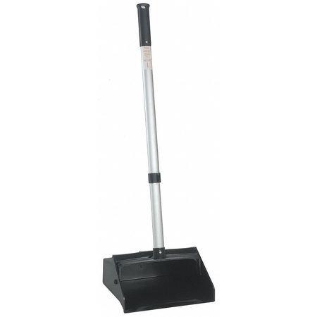 Zoro G4151281 Black Lobby Dust Pan,Black,30in,Locking Handle, 30in