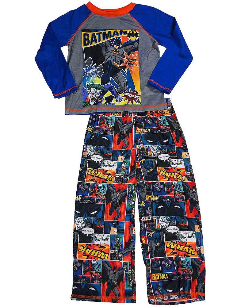 Batman Big Boys Long Sleeve Batman Pajamas Super Hero PJ's for boys sizes 8 thru 20 30 Day... by