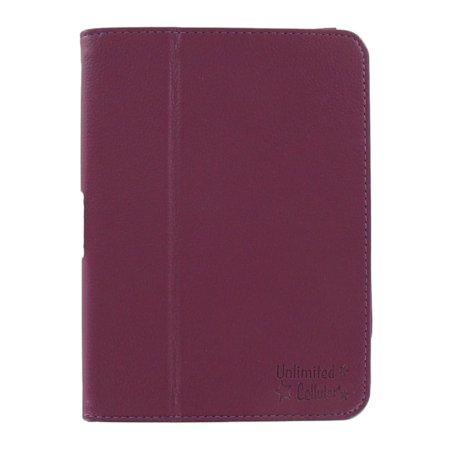 Unlimited Cellular Leather Flip Book Case Folio For Kindle Fire Hd 7    2012 Version    Purple