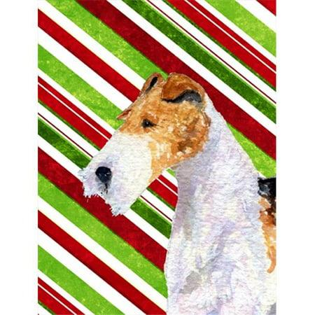 Carolines Treasures SS4547GF 11 x 15 In. Fox Terrier Candy Cane Holiday Christmas Flag, Garden Size - image 1 de 1