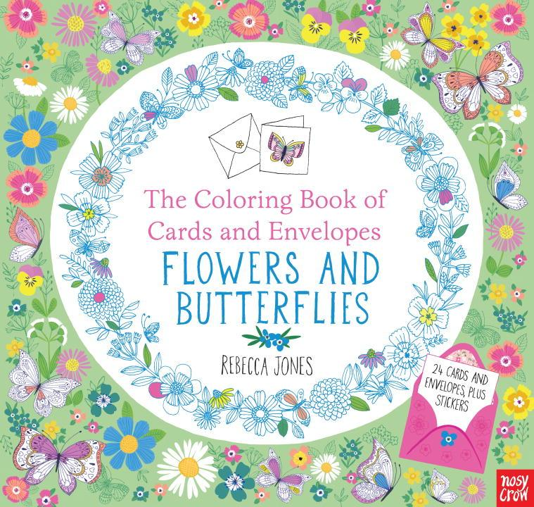 The Coloring Book of Cards and Envelopes: Flowers and Butterflies (Paperback)