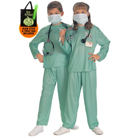 Kid's Emergency Room Doctor Costume Treat Safety Kit - Safety Costume