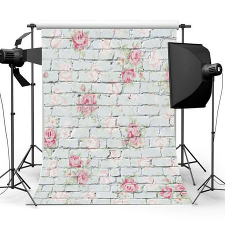 NK HOME Studio Photo Video Photography Backdrops Vinyl Fabric Christmas Holiday Party Decorations Background Screen Props 3x5ft 30+ Colors Black And White Photography