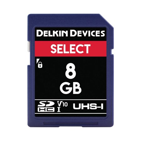 Delkin Devices DDSDR1638GB 8GB SDHC 163x Memory Card Delkin Devices Secure Digital Card