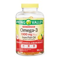 Spring Valley Omega-3 Fish Oil Soft Gels, 1000 mg, 120 Count