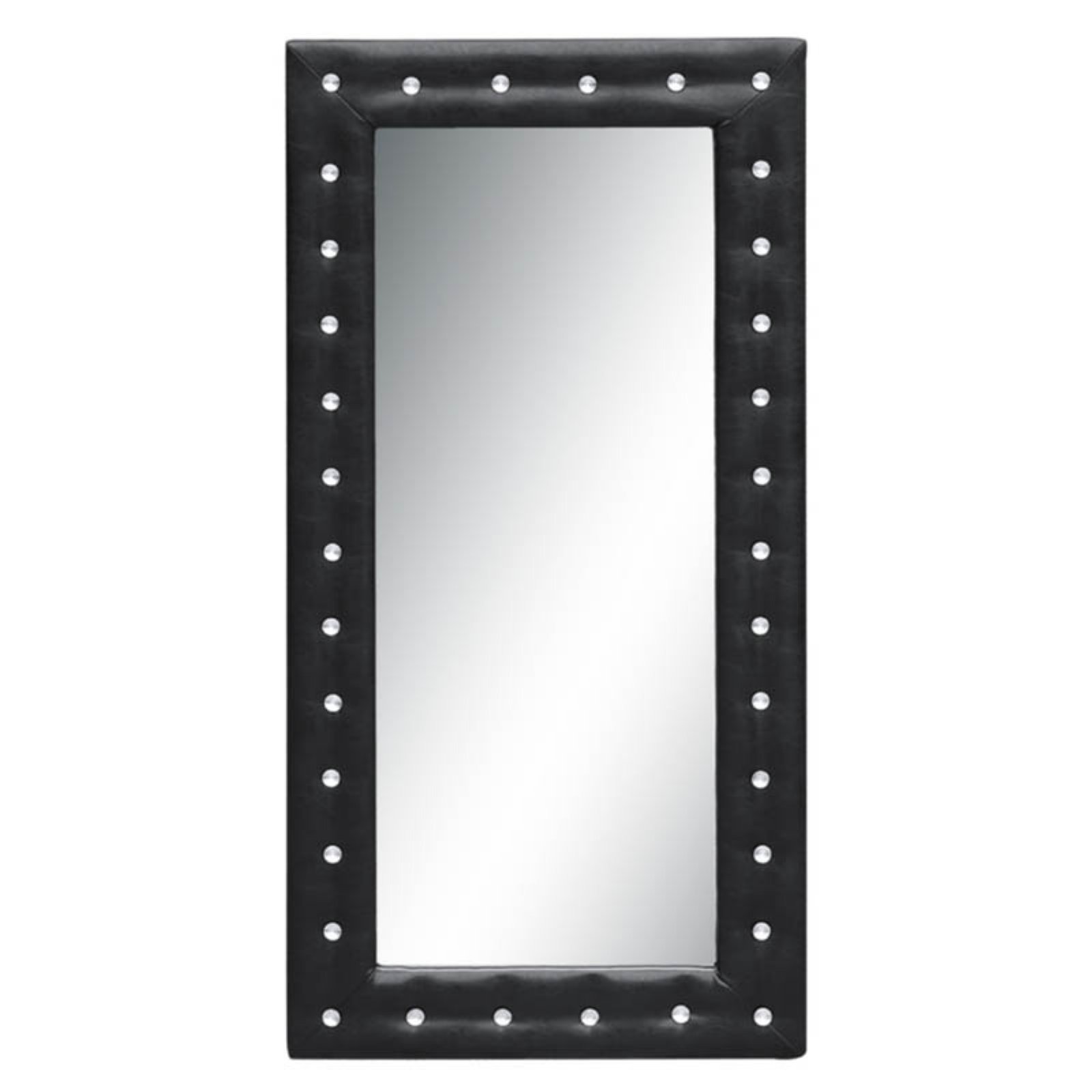 Fine Mod Imports 36 in. Tufted Floor Mirror by I&L Distributing