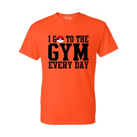Pokemon I Go To The Gym Everyday Youth Boys Girls Short Sleeve Tee T-Shirt