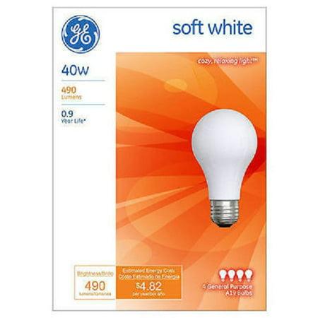 GE 13257 40 WATT SOFT WHITE LIGHT BULBS 4 PACKS OF 4 = 16 ()