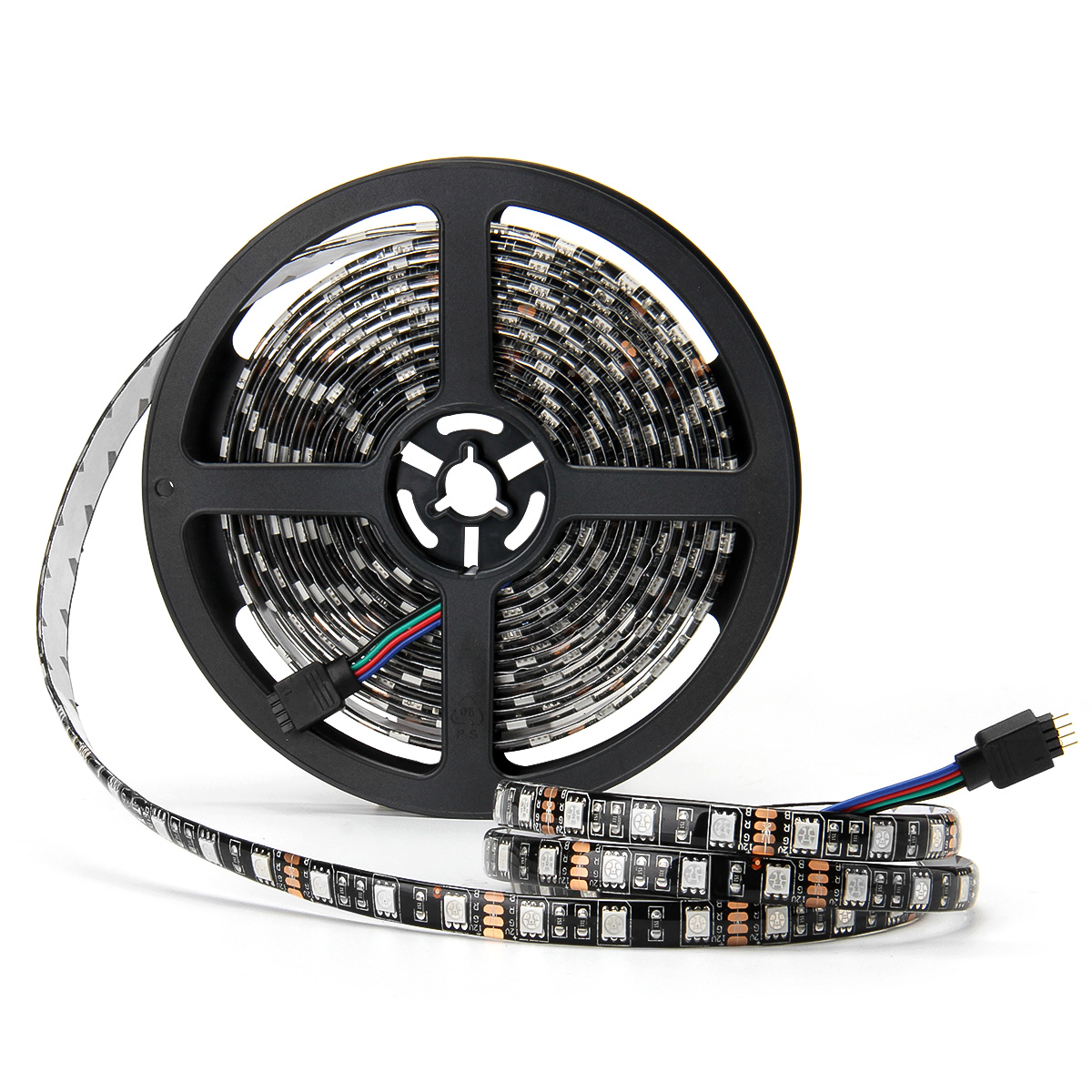 SUPERNIGHT Black PCB 5050 RGB LED Strip Lights Waterproof IP65 Flexible Color Changing Lighting 16.4ft 5M 300 Leds LED Rope Light 60Leds/M