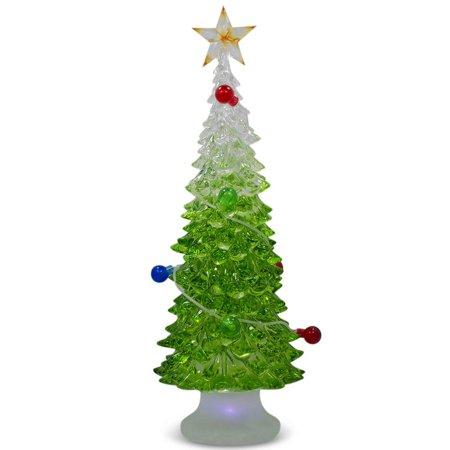 9 led acrylic plastic tabletop christmas tree