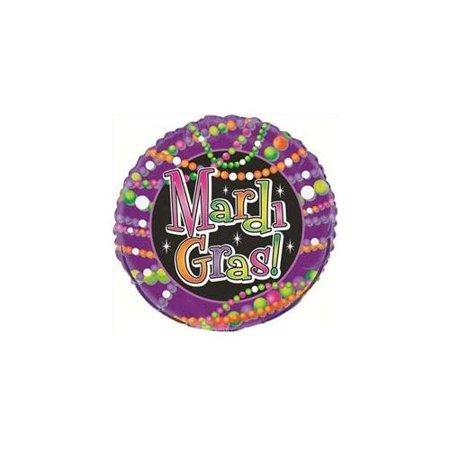 Unique Mardi Gras Themed Double-Sided Bead Design 18
