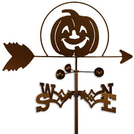 SWEN Products Inc Handmade Halloween Pumpkin Weathervane - Post Halloween Pumpkin