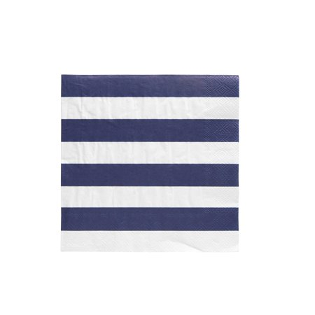 Striped Napkins (Pack of 20 Cabana Stripe Luncheon Size Paper Napkin 6.5