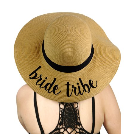 C.C - C.C Women s Paper Weaved Crushable Beach Embroidered Quote Floppy  Brim Sun Hat a4ae849ec6d