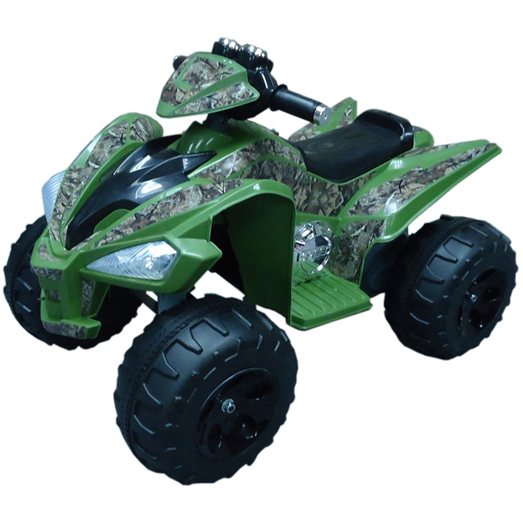 True Timber 12-Volt Battery-Operated Camo Super Quad Ride-On, Green