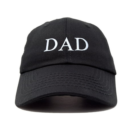 Embroidered Wildlife Scene Cap Hat (DALIX Men's Embroidered Dad Hat Soft Cotton Baseball Cap in Black )