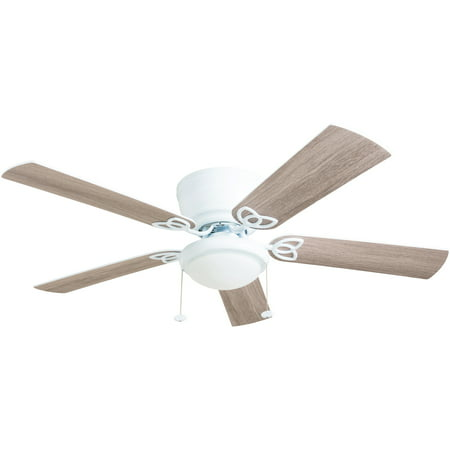 "Prominence Home 52"" Benton Flush Mount Indoor White Ceiling Fan"