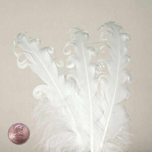 "White Nagorie Goose Feathers, 5"" to 7"" (10/Pack)"