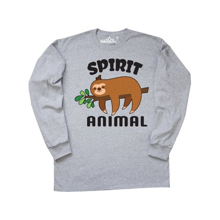 My Spirit Animal is a Sloth with Sloth Illustration Long Sleeve T-Shirt