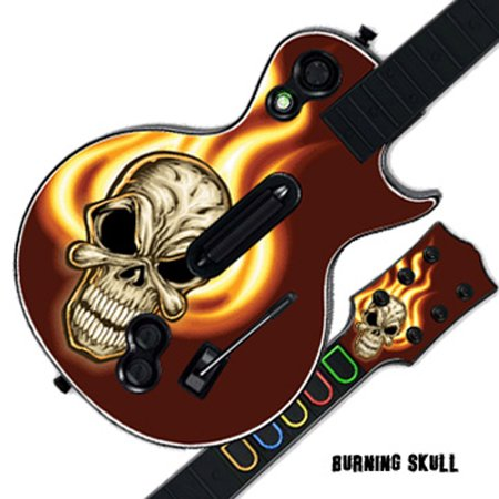 Mightyskins Protective Skin Decal Cover Sticker for GUITAR HERO 3 III PS3 Xbox 360 Les Paul - Burning Skull
