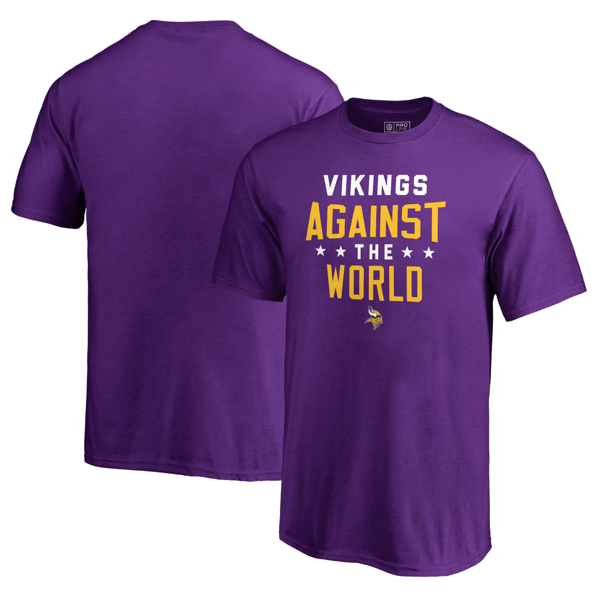 Minnesota Vikings NFL Pro Line by Fanatics Branded Youth Against The World T-Shirt - Purple