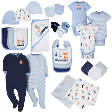 Newborn Gift Set Case - Newborn Baby Boy Coordinated Essentials Set, 28pc
