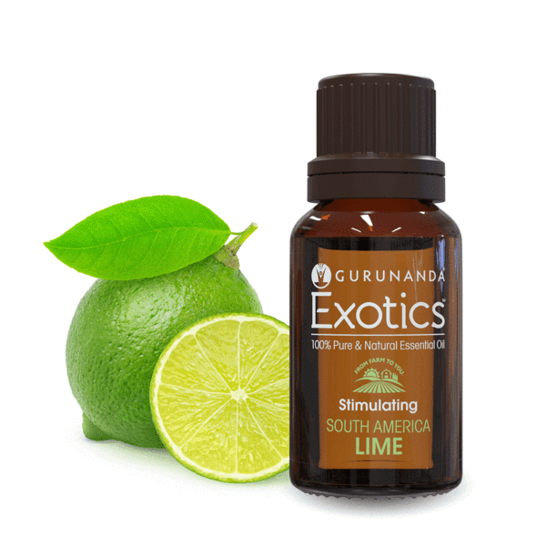 GuruNanda Exotics 100% Pure & Natural with Roll-On Bottle, Lime