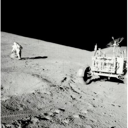 15 Poster Print - Apollo 15 moonwalk Poster Print