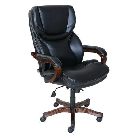 Serta Executive Office Chair, Black Bonded