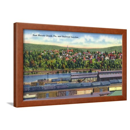 Mauch Chunk Pennsylvania - Jim Thorpe, Pennsylvania - View of East Mauch Chunk and Rr Junction Framed Print Wall Art By Lantern Press