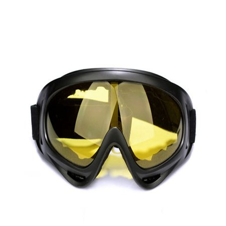 Ski Goggles - Over Glasses Ski / Snowboard Goggles for Men, Women & Youth - 100% UV Protection Color:Yellow