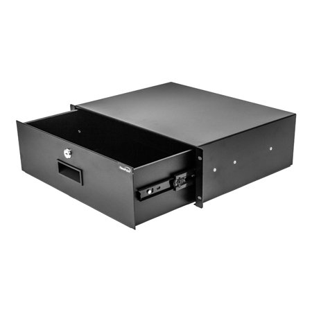 NavePoint Server Cabinet Case 19 Inch Rack Mount DJ Locking Lockable Deep Drawer with Key 3U (Locking Rack Drawer)
