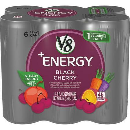 Energy Cherry - V8 +Energy Black Cherry, 8 oz., 6 pack