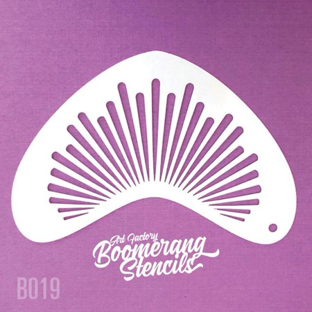 Art Factory Boomerang Stencil - Sunburst, Reusable Face Painting Stencil, Great for Fairs, Carnivals, Party and Halloween](Halloween Witch Face Painting Ideas)