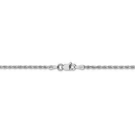 14k White Gold 1.75mm Link Rope Chain Necklace 16 Inch Pendant Charm Handmade Fine Jewelry For Women Valentines Day Gifts For Her - image 5 de 9