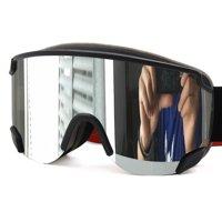 ee23882ac499 LY-100 Ski Snowboard Goggles Double Lens Anti-Fog UV400 Anti-silp Strap  Black 1