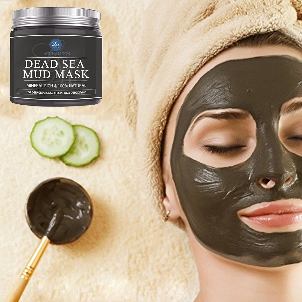 Lagunamoon New Arrival Dead Sea Mud Mask Pure Natural Facial Mineral Mask for Face & Body Deep Pore Cleansing Treatment Tightens Skin