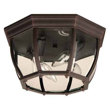 Craftmade Bent Glass Z434 Outdoor Flush Mount Light
