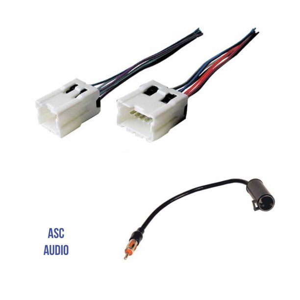 Car Stereo Radio Wire Harness and Antenna Adapter to Aftermarket Radio for  some Infiniti Nissan etc.- Vehicles listed below, Wire harness and antenna  adapter for.., By ASC Audio - Walmart.com - Walmart.comWalmart