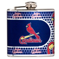 St. Louis Cardinals 6oz. Stainless Steel Hip Flask - Silver