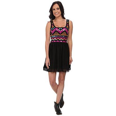 Rock and Roll Cowgirl Women's Tank Dress D5-4475 Black Dress XS