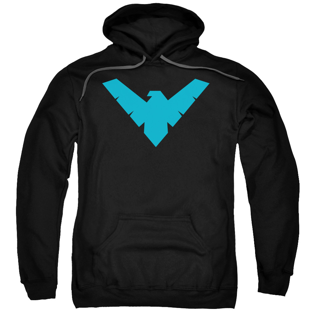 Batman Nightwing Symbol Mens Pullover Hoodie Black XL