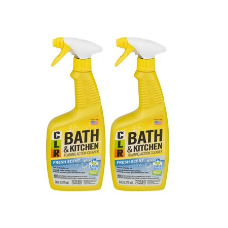 (2 Pack) CLR Bath & Kitchen Multi-Surface Cleaner, Enhanced Formula Fresh Scent, 26 Oz