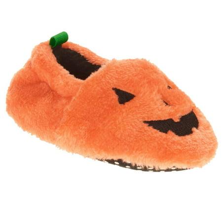 Infant Boys & Girls Plush Orange Pumpkin Slippers Baby Halloween Shoes](Halloween Slippers)