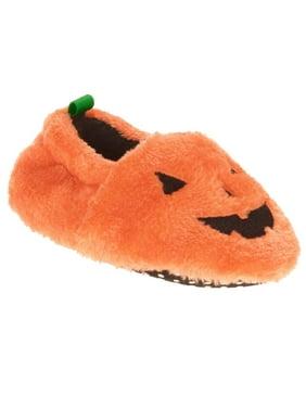 6cbf94363808 Product Image Infant Boys   Girls Plush Orange Pumpkin Slippers Baby  Halloween Shoes